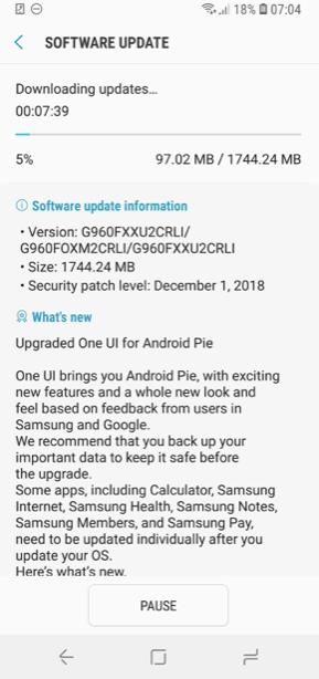 Samsung выпустила Android 9 для Galaxy S9/S9+ раньше ожидаемого