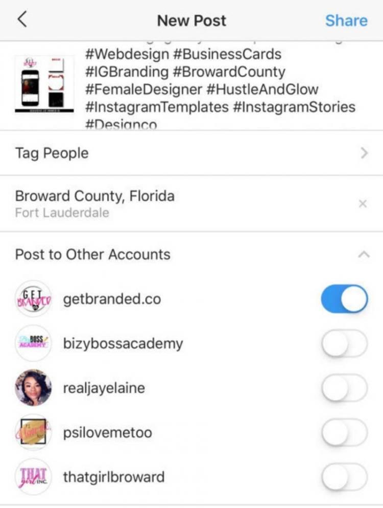 В Instagram теперь можно публиковать посты в несколько аккаунтов одновременно - но только на iOS