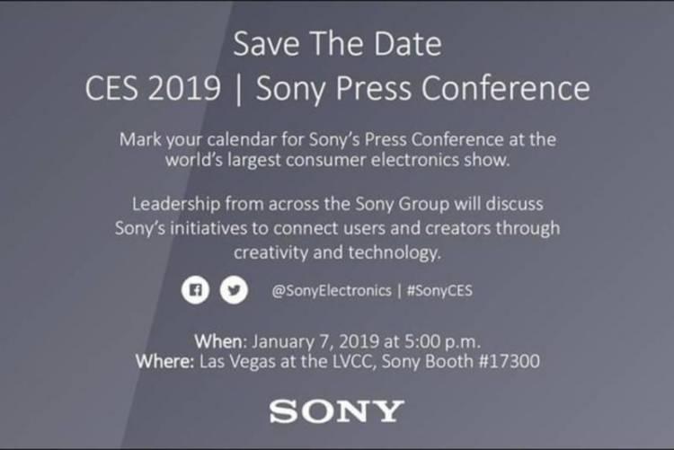 Sony проведет презентацию на CES 2019