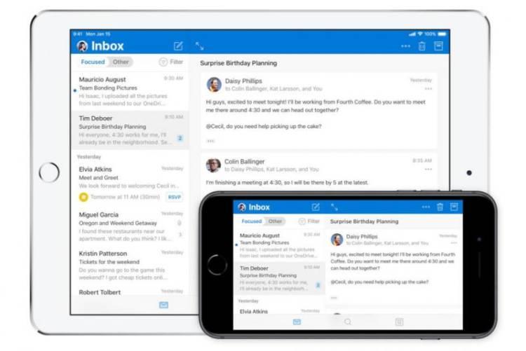 Microsoft выпустила новое приложение Outlook для iOS