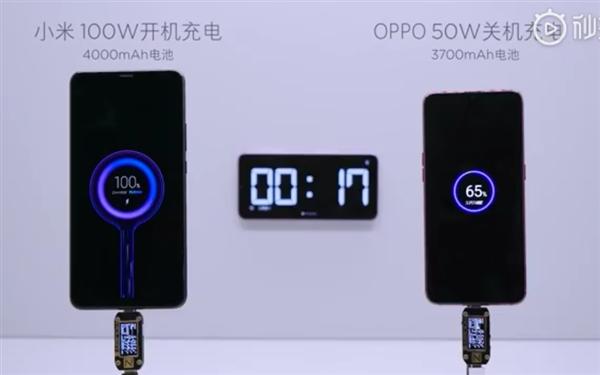 Xiaomi демонстрирует турбо-зарядку на 100 Вт
