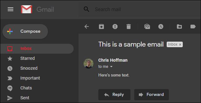 Gmail для Android получает темный режим