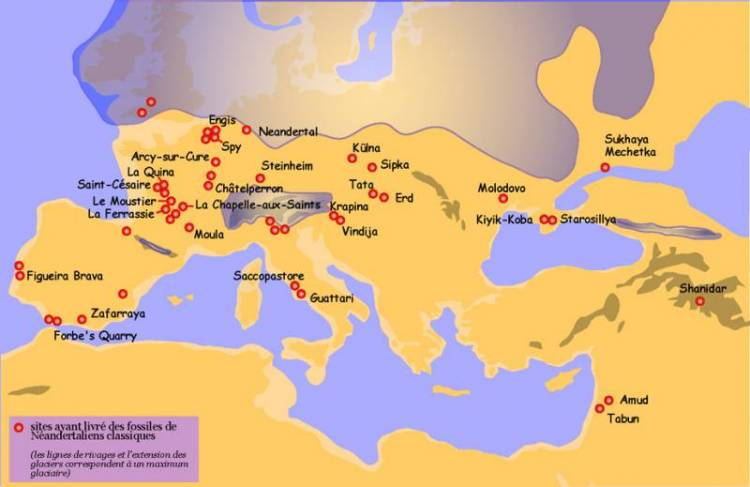map neanderthalensis