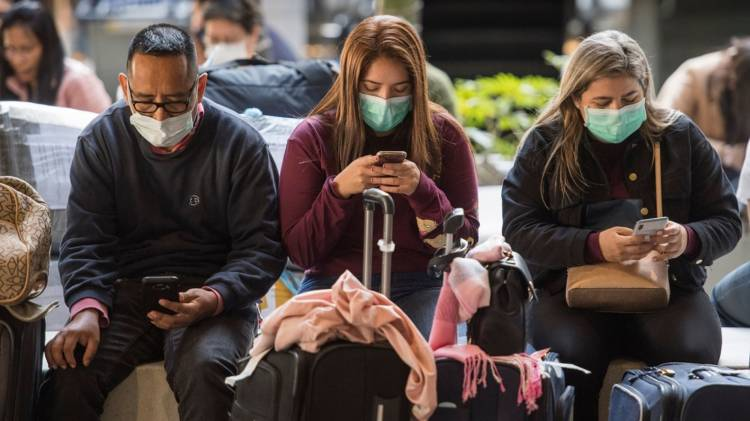 smartphone add coronavirus