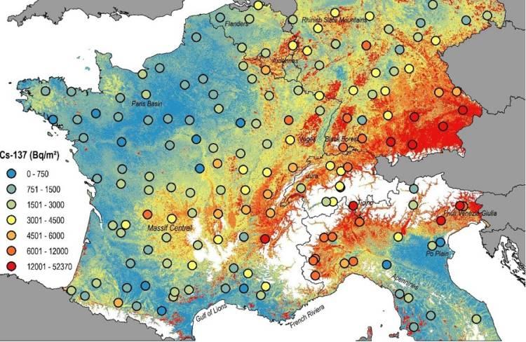 radiation map